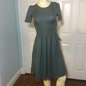 LuLaRoe Amelia Dress NWT Solid Color Grey XS (2-4)